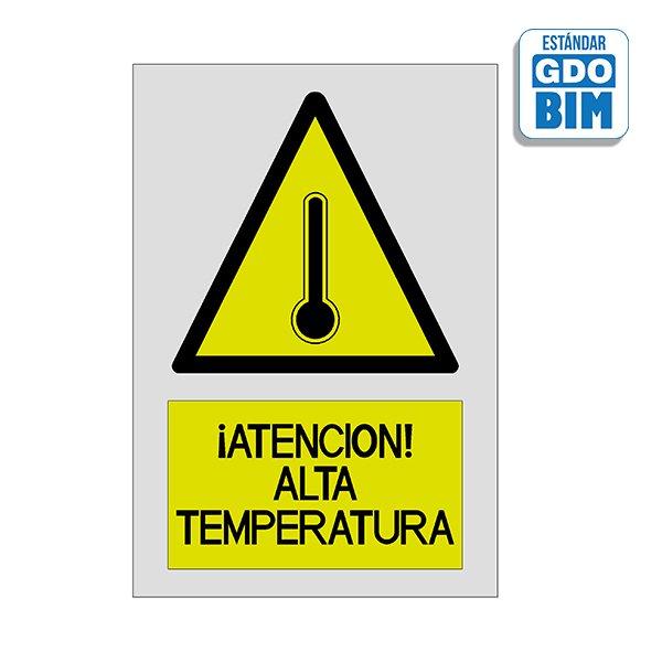 Señal Atención alta temperatura