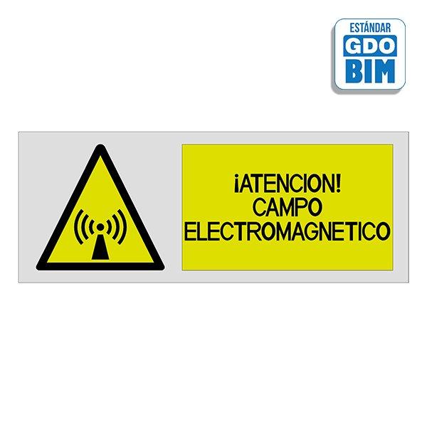 Señal Atención campo electromagn