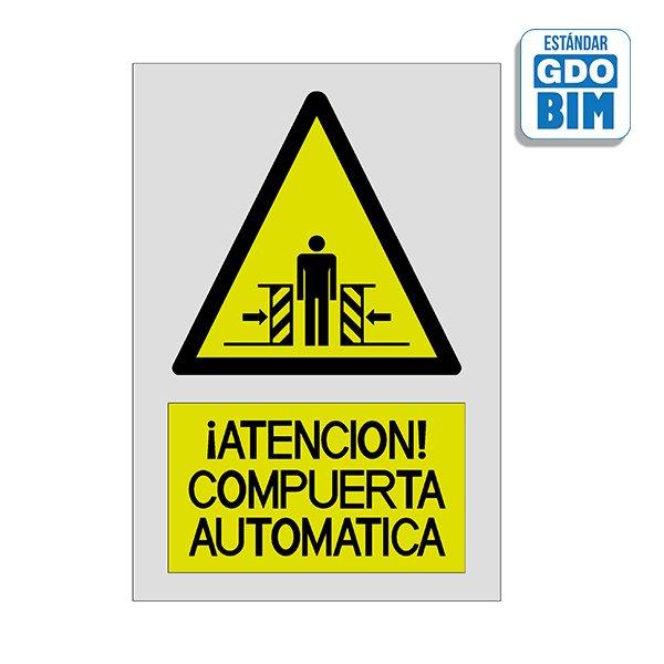 Señal Atención compuerta automát