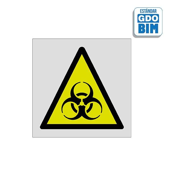 Señal Atencion riesgo biologico