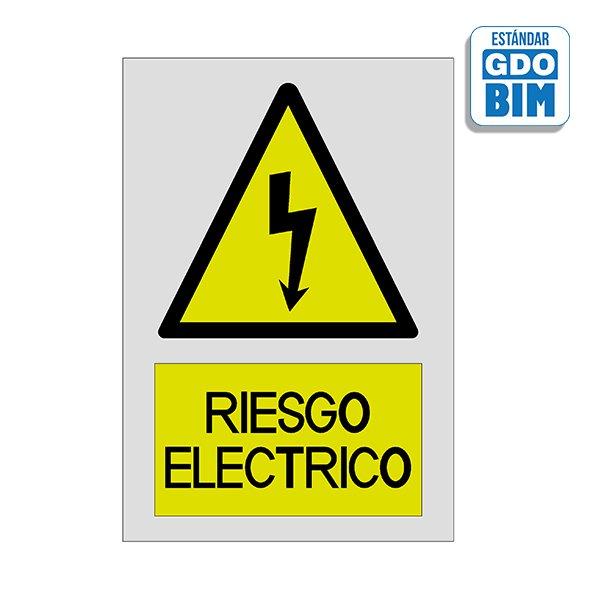 Señal Riesgo eléctrico con rótul