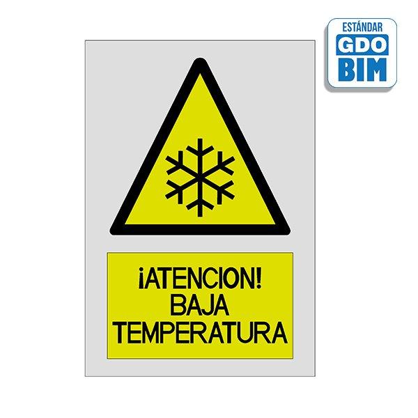 Señal Atención baja temperatura