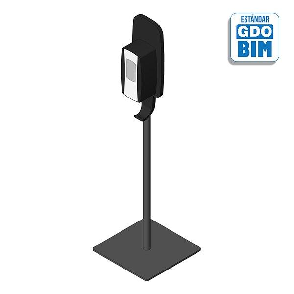Dispensador vertical con soporte