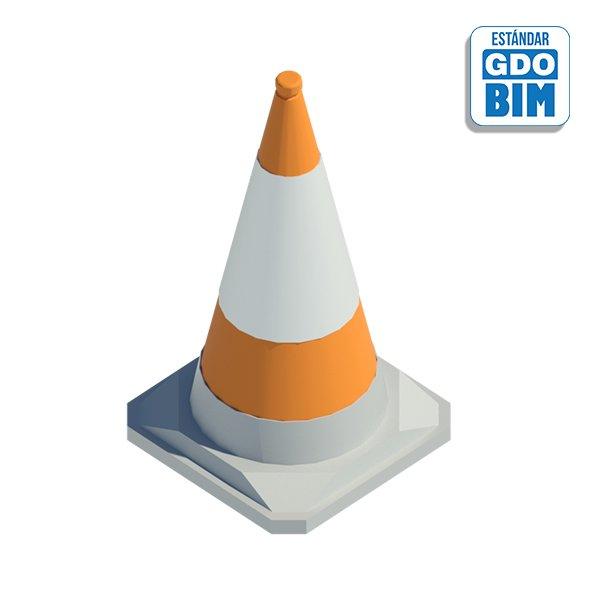 Cono PVC Naranja 410x410x750mm