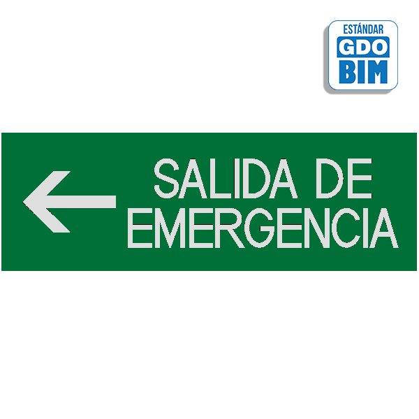 Señal salidas de emergencia izqu