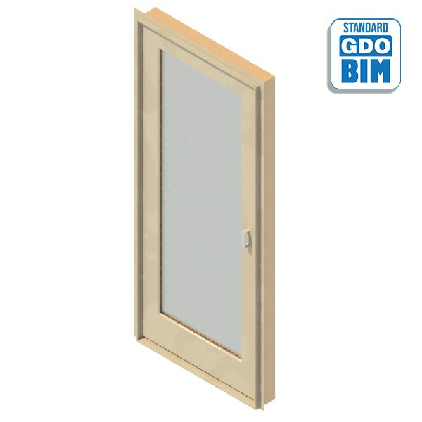 Exterior door 1 glazed panel 90
